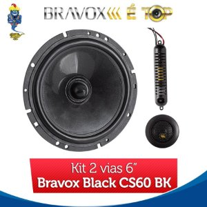 Kit 2 Vias 6 Bravox Black CS60 BK