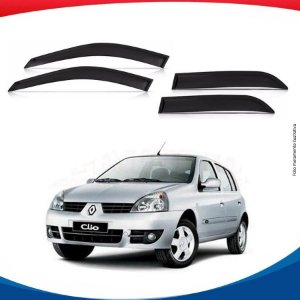 Calha Chuva Clio Hatch 4 Portas 01/11