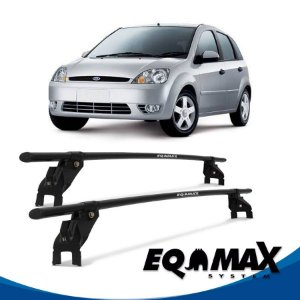 Rack Aço Teto Eqmax Ford Fiesta Amazon 4 Pts Hatch 03/16