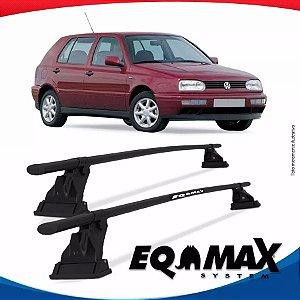 Rack Aço Teto Eqmax Vw Golf Antigo 4 Portas 94/98 Fixação Friso