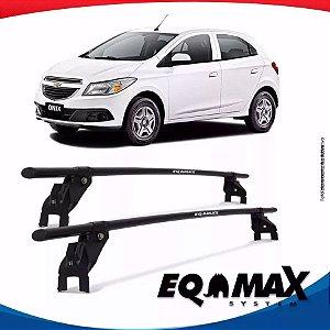 Rack Aço Teto Eqmax Chevrolet Onix 12/17 Fixação Porta