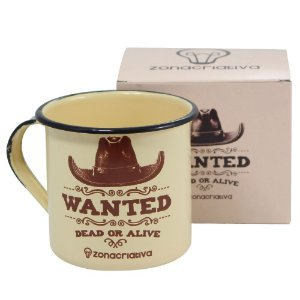 Caneca Metal – Retrô Wanted Dead Or Alive