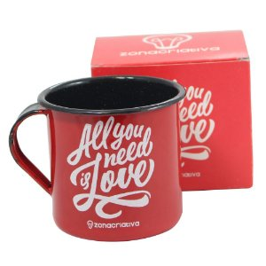Caneca Metal – Retrô All You Need Is Love