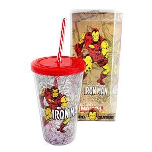 Copo Canudo – Homem de Ferro