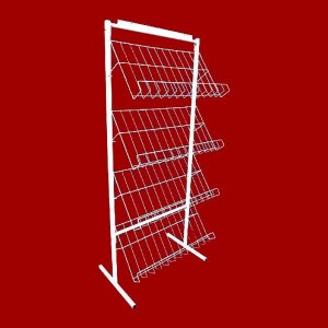 EXPOSITOR PARA REVISTAS PROMOCIONAL - 4 BANDEJAS 1,40x0,60x0,30m.