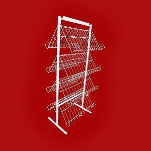 EXPOSITOR PARA REVISTAS PROMOCIONAL - 8 BANDEJAS 1,40x0,60x0,50m.