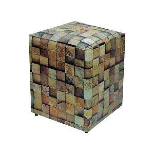 PUFF EM CORINO 34x34x42cm. (Stone)