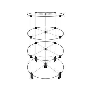 Gôndola de Vidro com 12 Vãos 30x30cm