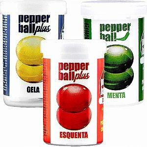 Kit 6 Bolinhas Explosivas Eróticas Funcionais Pepper Ball