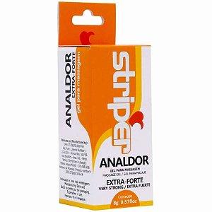 Anestésico Anal Analdor Gel Extra Forte Striper 8g