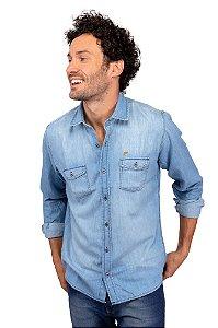 Camisa Jeans Delavê