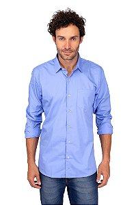 Camisa Social Fio 60 - Azul