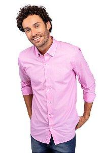 Camisa Algodão Chambray - Rosa