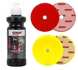"""Kit Sonax UltimateCut 250ml+boinas Corte e Refino 165mm 6"""""""