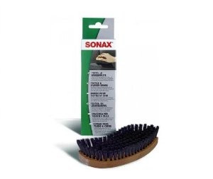 Escova Ergonômica Macia para Limpeza de Couro e Tecido Sonax