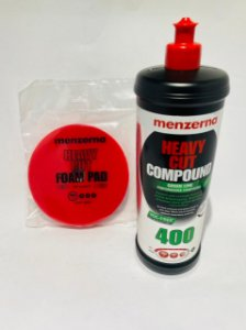 Kit Menzerna 400 green line 1kl + Boina corte vermelha 5