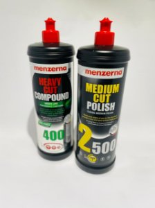 Kit Menzerna 400 green line 1kl + Medium Cut Polish Pf2500 1