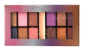 Paleta de Sombras + Primer Culture Ruby Rose