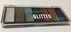 Paleta de Sombras Eyeshadow Glitter Luisance 07 Cores