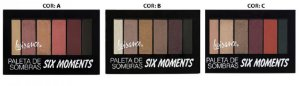 Paleta de Sombras Six Moments Luisance