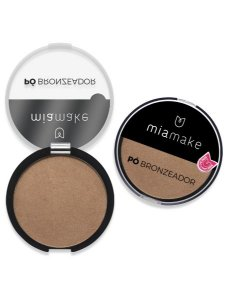 Kit Pó Bronzeador Mia Make 11039 - Cores 01 e 02