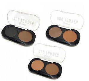 KIT Paleta de Sombras Duo Powder 2 Cores  - 03 unidades cores variadas