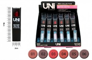 Batom Matte Red Collection UNI Makeup - 6 cores diferentes