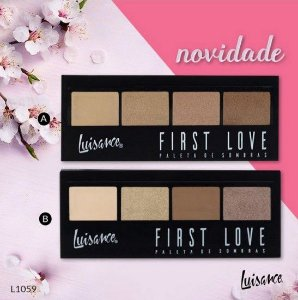 Kit Paleta de Sombras First Love Luisance 4 Cores - 2 Unidades - (Cores A e B)