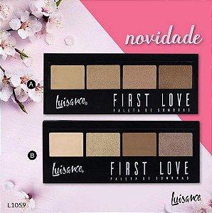 Kit Paleta de Sombras First Love Luisance 4 Cores - 2 Unidades - (Cores A e B)