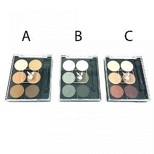 Paleta de Sombras Matte Playboy - 6 Cores variadas cada + Pincel