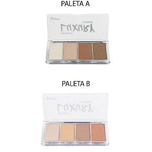 Kit Paleta Contorno All About Luxury 4 Cores - 2 unidades - Cores A e B