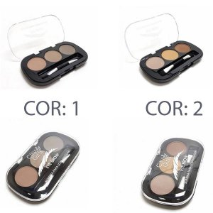Kit Paleta de Sombras para Sobrancelhas Eye Brow City Girls - 2 unidades