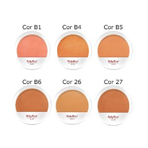 Kit Blush Compacto Facial Ruby Rose HB-6104 - Kit com 6 unidades