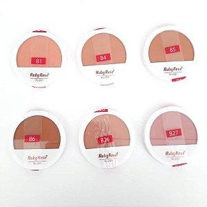 Blush Compacto Facial Ruby Rose HB-6104 - 6 opções de tonalidades