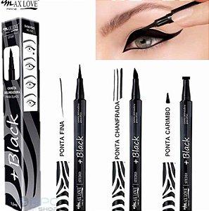 Kit caneta delineadora +Black Max Love - 3 unidades