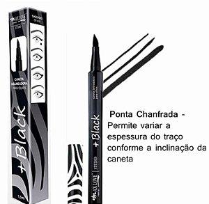 Caneta Delineadora Para Olhos Ponta Chanfrada + Black Max Love