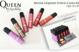 Kit Batom Líquido Fosco Queen FASHION QBX-BLL30 - 6 unidades em cores variadas