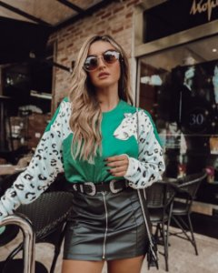 Tricot Fashion Tigre Verde