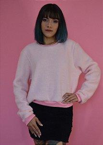 Blusa manga longa pelúcia Tiffany ROSA