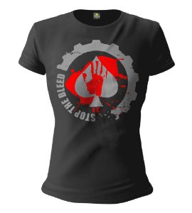 Camiseta Feminina Baby Look ETC Team Stop The Bleed