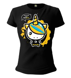 Camiseta Feminina Baby Look ETC Bad Boy Unicornio Esperandio Tactical