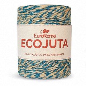 Barbante Ecojuta Euroroma - Azul petróleo