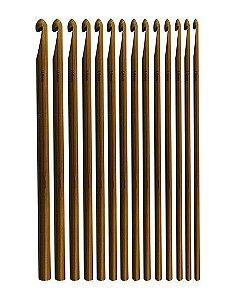 Agulha crochê de bambu