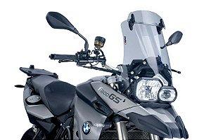 Bolha Parabrisa PUIG Touring Defletor Integrado BMW F800 GS 2013 Fume Claro alto impacto 5914H