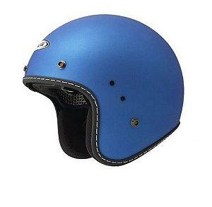 Capacete Moto Zeus 380H Matt Metallic Blue Café Racer Aberto