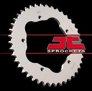 Coroa de Alumínio [520] Kawasaki Ninja 250 2008-2012 Suzuki 750 2011-2015 Srad Yamaha R3 2015 R1 1998-2003 JT JTA486-43