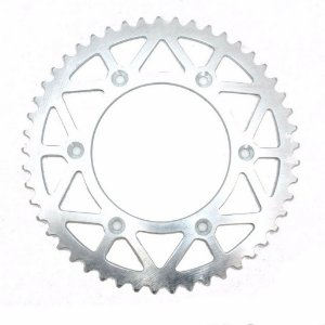 Coroa Transmissão Moto Cross KTM Husaberg Husqvarna Aço 50 Dentes Line Titanium Polida RD