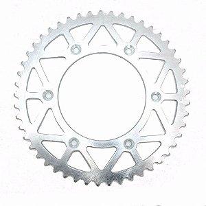 Coroa Transmissão Moto Cross KTM Husaberg Husqvarna Aço 51 Dentes Line Titanium Polida RD