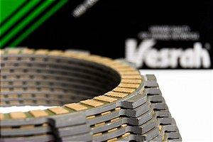Discos de Embreagem Fricção Kawasaki Er-6n Ninja 650 09-15 Versys 07-15 Vesrah