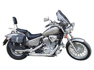 """Escapamento Torbal Honda Shadow 600 Todos Anos 3"""" Pol. Corte Lateral"""